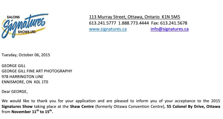 November 2015 – Ottawa Art Show