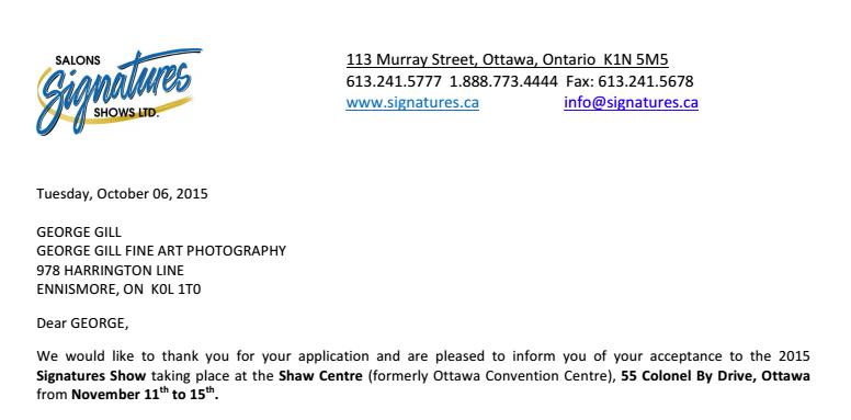 Ottawa Signatures Show